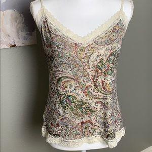 5/$20 🌸 Loft Camisole with Lace Trim Detail